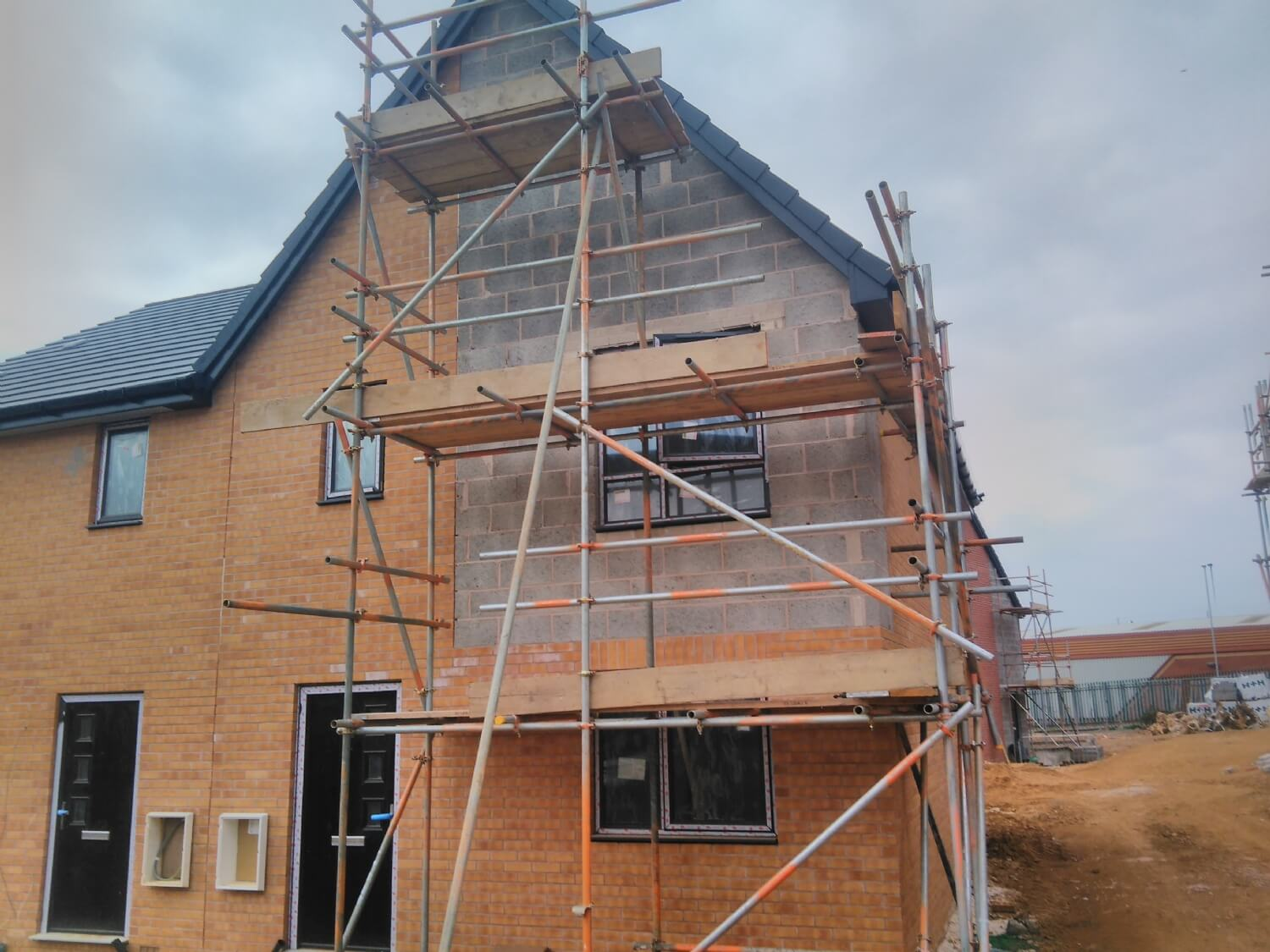 New Build and Render Scaffold Northampton