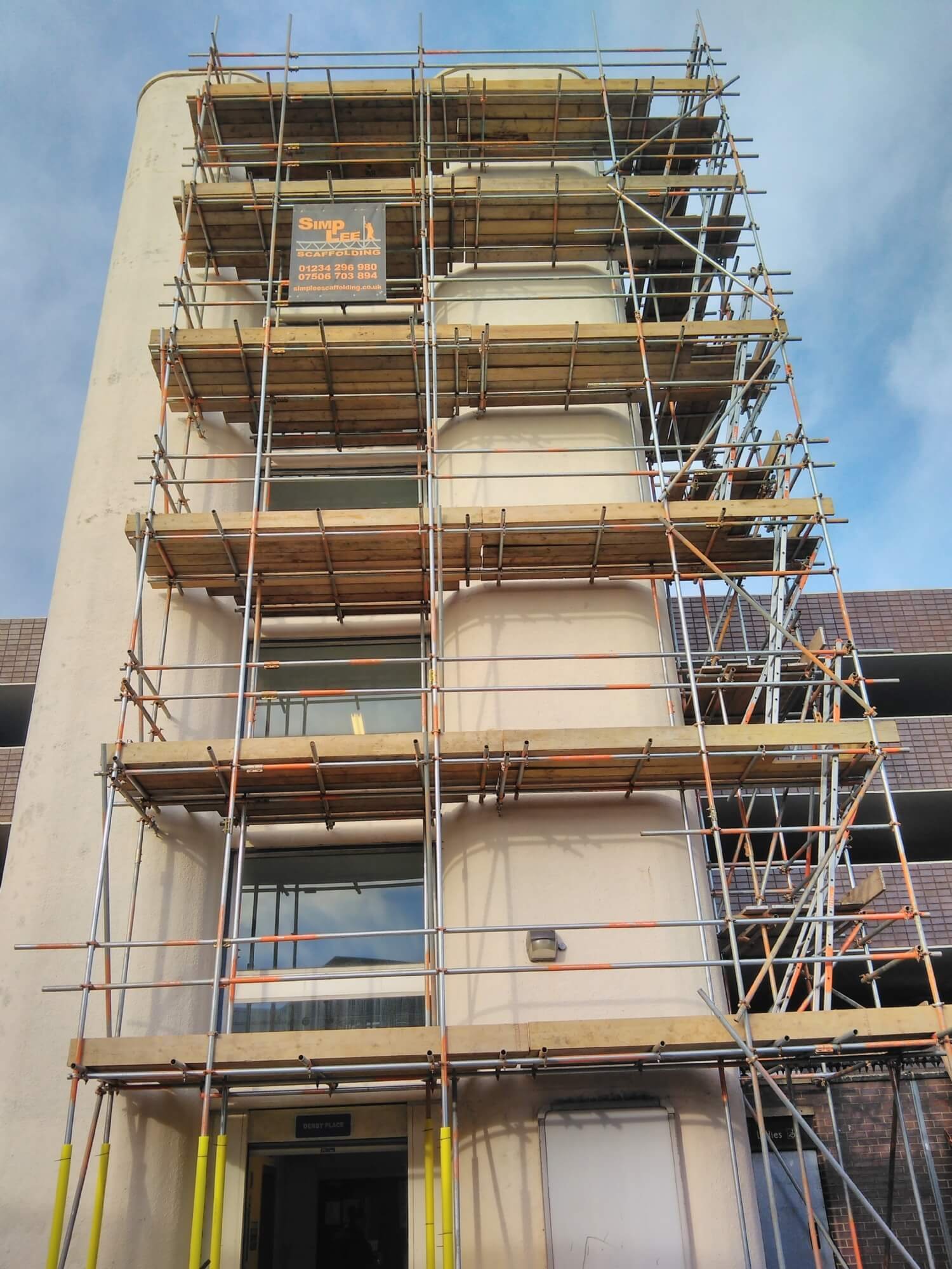 Scaffolding for painting and Window Replacement Bedford